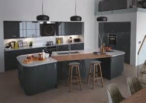 cuisine gris noir cuisine amnage noir et blanc repeindre