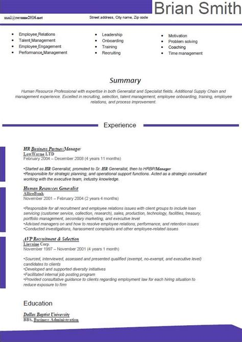 best text format for resume