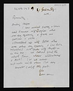 item letter from duncan grant to vanessa bell With charleston letter art