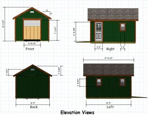 12x16 gable storage shed plans potting shed greenhouse