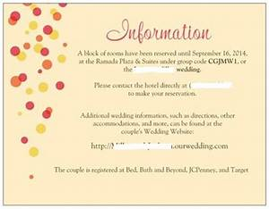 invite insert question With wedding invitation inserts for hotel information