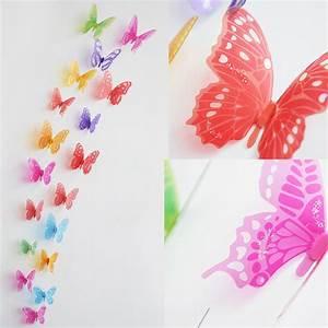 Deko Schmetterlinge Groß : 18stk 3d schmetterlinge wandtattoo wand deko aufkleber wandaufkleber ebay ~ Yasmunasinghe.com Haus und Dekorationen