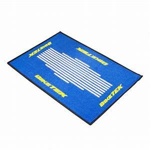 Tapis Jaune Et Bleu : tapis d 39 entr e moto bleu blanc jaune pour garage ~ Dailycaller-alerts.com Idées de Décoration