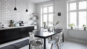 Cuisine Blanc Et Noir : une cuisine en noir et blanc shake my blog ~ Voncanada.com Idées de Décoration