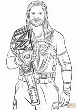 Coloring Roman Reigns Wwe Pages Printable Rollins Clipartlook Seth John Clipart Sheets Easy Drawing Styles Template Categories Supercoloring sketch template