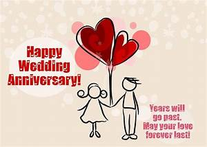 Happy Wedding Anniversary Cards for Friends, Family