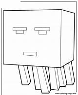Minecraft Coloring Pages Ghast Craft Mine Printable Scribblefun Cartoon Mobs Cute Drawing Nether Silverfish Ghasts sketch template