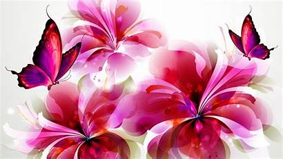 Butterflies Flowers Wallpapers Animated