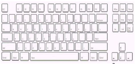 Printable Keyboard Template Pictures To Pin On Pinterest