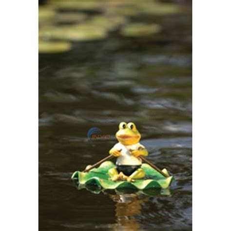 Lily Pads For Boats by Aquascape Resin Floating Frog On Lily Pad Boat 98223