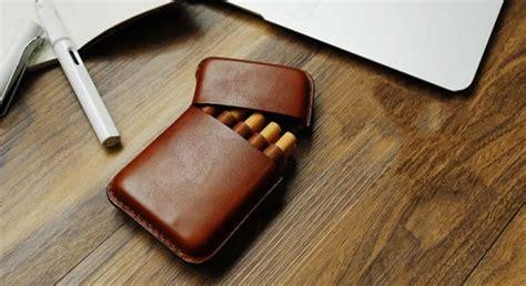 handmade genuine leather cigarette case feelgift