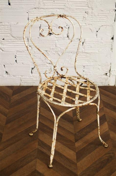 chaise en fer forge chaise jardin chaises fer forgé ancienne vintage 1900