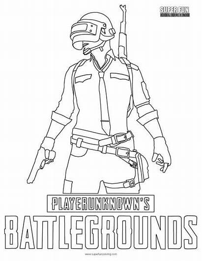 Pubg Coloring Battlegrounds Player Unknown Fun Super