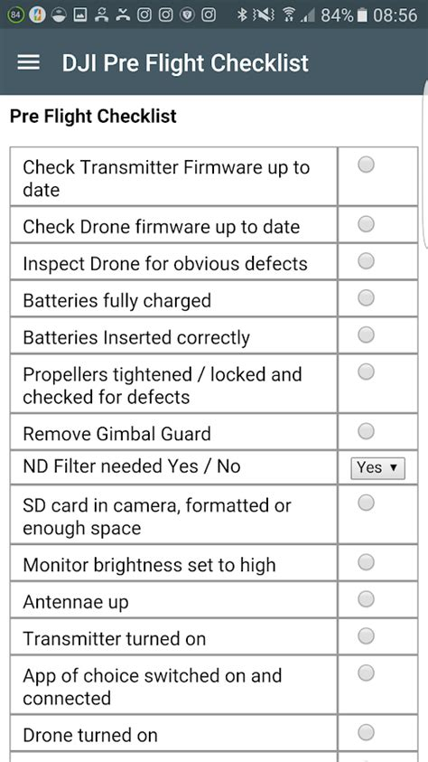Emergency Checklist Template Pilot by Dji Pre Flight Checklist Android Apps On Google Play