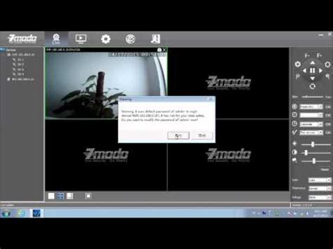 access ip camera  zviewer pc client software youtube