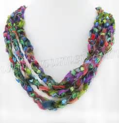 Ladder Ribbon Necklace Crochet Pattern