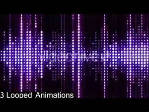 VJ Led Neon Lights Motion Graphics Flashing Audio Spectrum