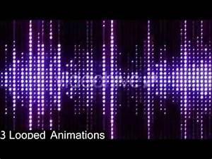 VJ Led Neon Lights Motion Graphics Flashing Audio Spectrum