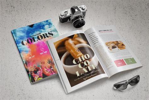 colors magazine template stockindesign