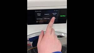 How To Get Into Service Mode On The Miele W1 With Touch