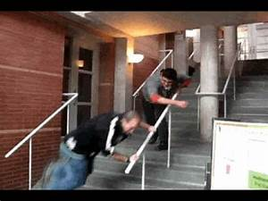 People falling down stairs! - YouTube