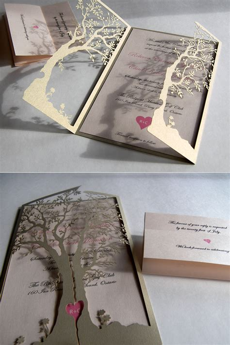 Elegant Wedding Invitations With Unique and Cute Model