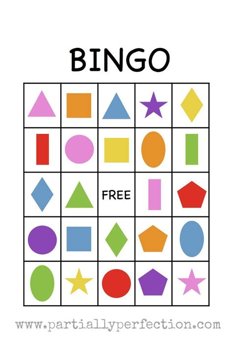 preschool colors and shapes shape bingo card free printable i m going to use this 129