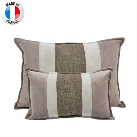 coussin deco taupe