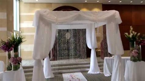 jewish wedding ideas chuppah decorated  fresh flowers