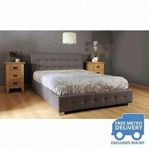 Westminster Queen Size Fabric Storage Gas Lift Bed Frame ...