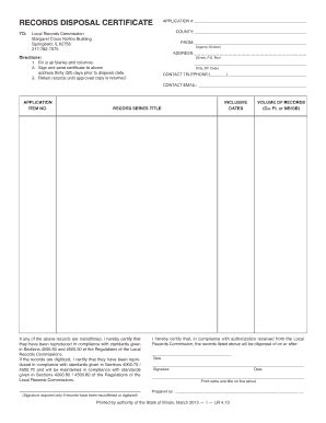 certificate of disposal template disposal certificate fill printable fillable blank pdffiller