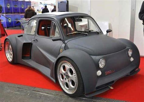 Fiat Lamborghini by Fiat 500 With A Lamborghini V12 Engine