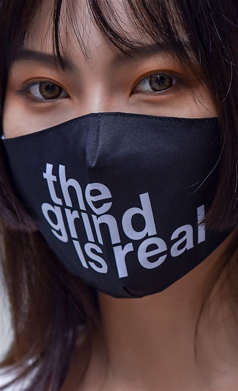 The Grind Is Real Face Mask Insert Coin Clothing