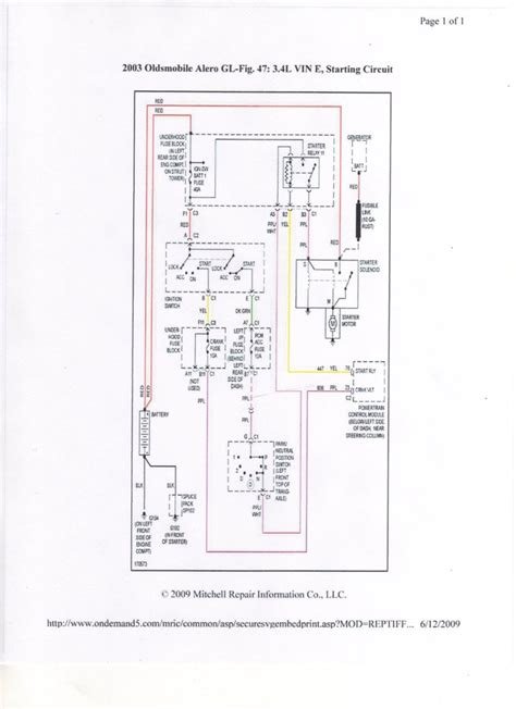 Starter Wire Diagram 2001 Alero by I A 2003 Olds Alero Wont Turn Battery Lights