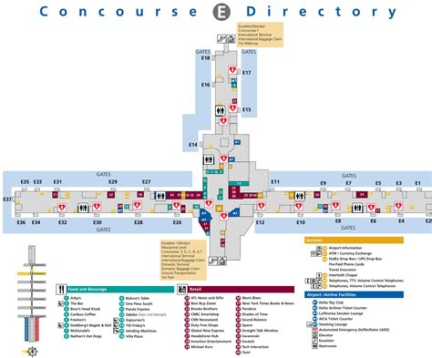 atlanta airport terminal map pictures to pin on