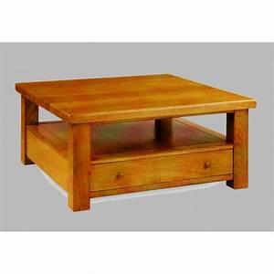 Table De Salon Carrée : table de salon campagnarde carr e meubles de normandie ~ Teatrodelosmanantiales.com Idées de Décoration