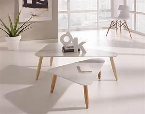 Table Gigogne Scandinave : table basse gigogne laquee le bois chez vous ~ Teatrodelosmanantiales.com Idées de Décoration