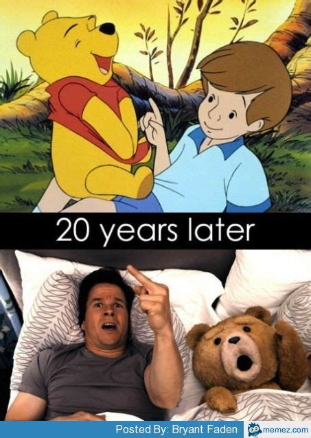 Christopher Robin Meme - winnie the pooh 20 years later memes com