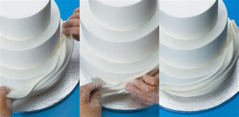 Fondant Drapes - how to make fondant swags on buttercream cakes