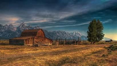Barn Desktop Wallpapers Prairie Wooden Western Grand