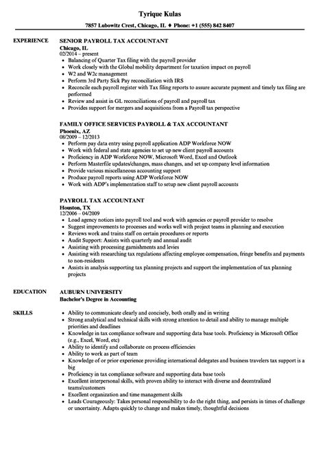 Tax Accountant Resume by Payroll Tax Accountant Resume Sles Velvet