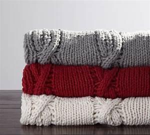 chunky knit throw pottery barn With chunky knit blanket pottery barn