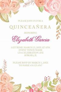 Flower Chart T Shirt Quinceañera Invitation Samples