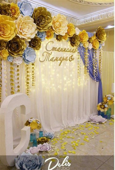 25 great ideas about paper flower backdrop on