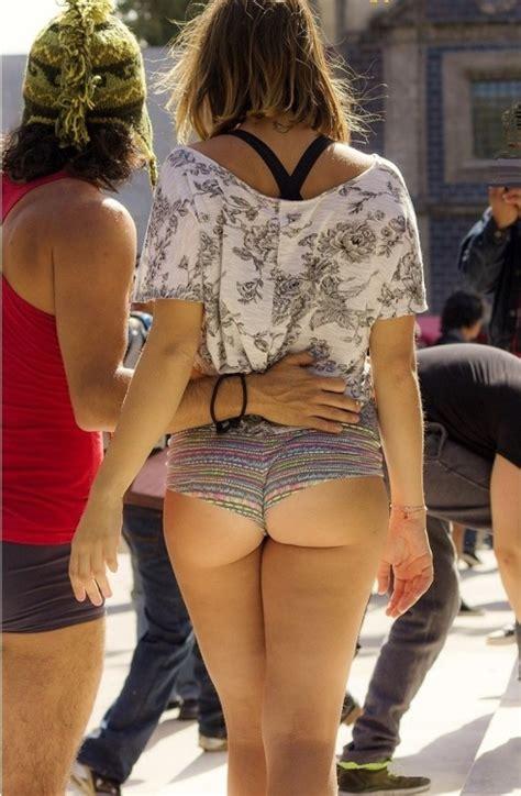 Bending Over Short Shorts