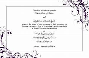 Marriage invitation card format in word various for Wedding invitation format in ms word