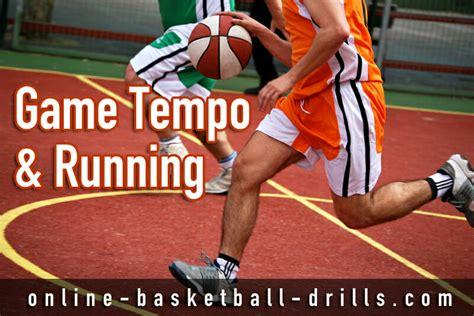 basketball drills game running tempo transition