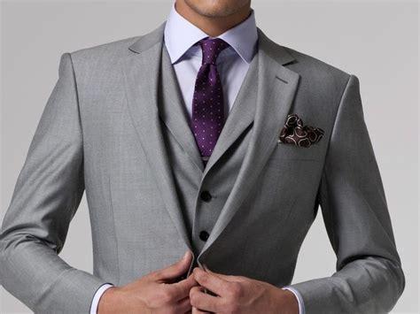 Custom Made Gray Wedding Tuxedos For Men, Bespoke Grey Men