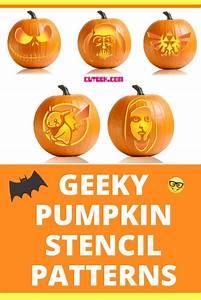 Geeky, Pumpkin, Stencils