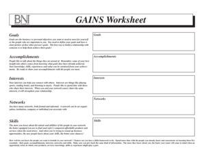 bni gains worksheet calleveryonedaveday
